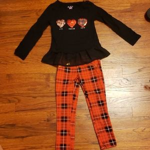 Children's place 2 piece heart outfit sz 5